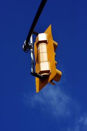 yellow street light against the blue sky Stock Photo - 5599846