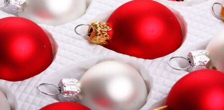 assorted box of glass christmas decorations Stock Photo - 5637377