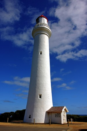 split: The Split Point Lighthouse, in Victoria, Australia Stock Photo