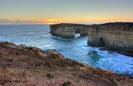 Scenic View along the Great Ocean Road photo