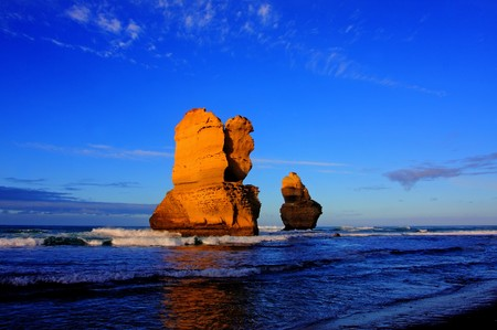 gibson steps and the twelve apostoles along great ocean road Stock Photo