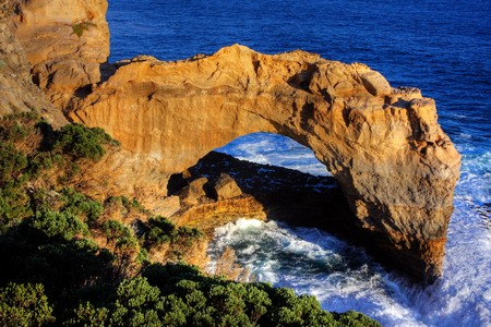 victoria park: london bridge along great ocean road Stock Photo