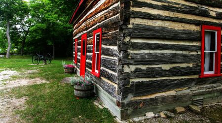 log shack in the Canadian countryside; Stock Photo - 7927558