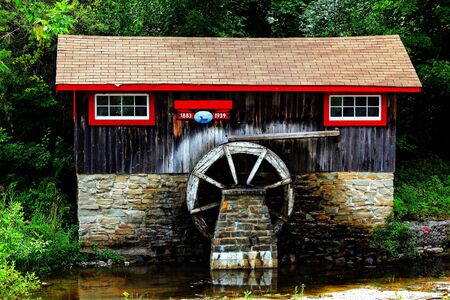 grist mill: old historic sawmill on manitulin island