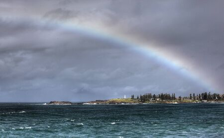 rainbow over the ocean landscape Stock Photo - 7927517