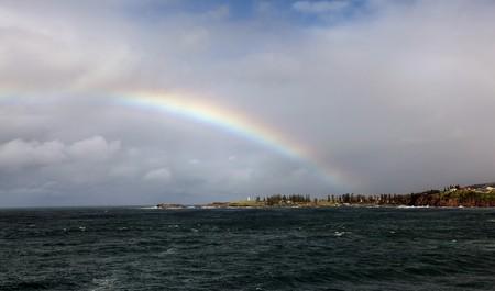 rainbow over the ocean landscape Stock Photo - 7927446