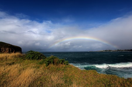 rainbow over the ocean landscape Stock Photo - 7927549