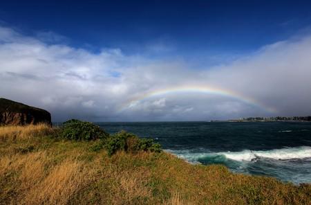 rainbow over the ocean landscape Stock Photo - 7927549