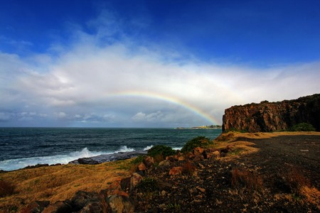 rainbow over the ocean landscape Stock Photo - 7927555