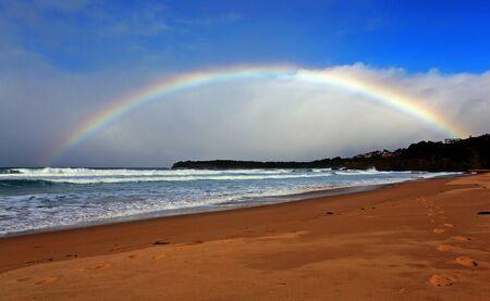 rainbow over the ocean landscape Stock Photo - 7927492