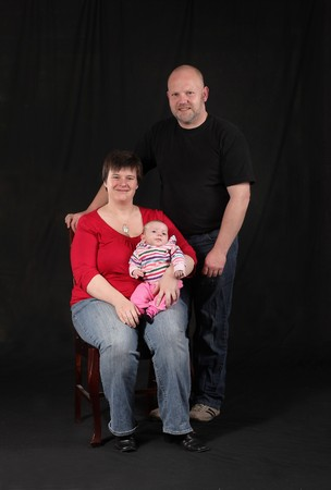 loving portrait of mother, father and newborn daughter Stock Photo - 8007775