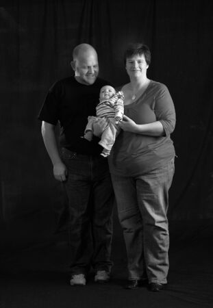 loving portrait of mother, father and newborn daughter Stock Photo - 8007781
