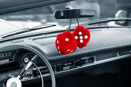 closeup of a classic vintage car photo