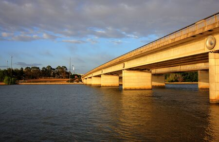 kings avenue bridge in Canberra at sunrise photo