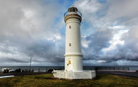 kiama: kiama lighthouse against a dramatic sky Stock Photo