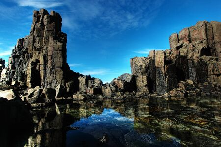 unusual coastal rock formations at kiama Stock Photo - 7979582