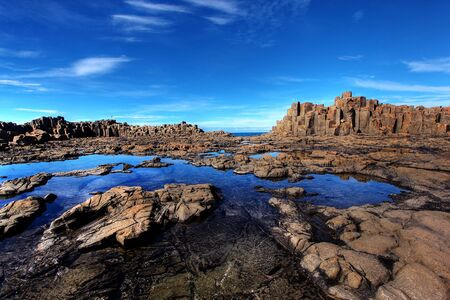 unusual coastal rock formations at kiama Stock Photo - 7979625