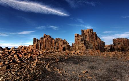 unusual coastal rock formations at kiama Stock Photo - 7979645