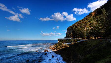 Sea Cliff Bridge along the Grand Pacific Drive Stock Photo - 7979402