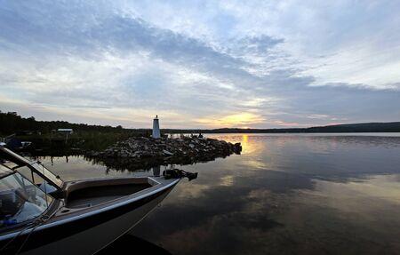 sunset over manitoulin island Stock Photo - 9852458