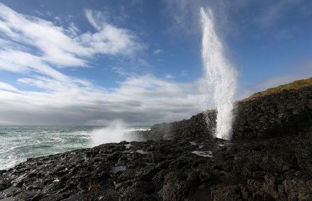 the little blowhole in action in kiama Stock Photo - 9852466