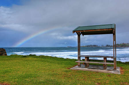 rainbow over the ocean landscape Stock Photo - 9852640