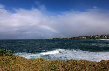rainbow over the ocean landscape Stock Photo - 9852510