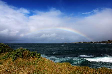 rainbow over the ocean landscape Stock Photo - 9852520