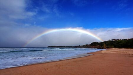 rainbow over the ocean landscape Stock Photo - 9852534