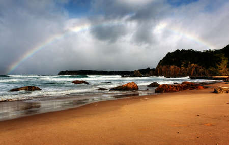 rainbow over the ocean landscape Stock Photo - 9852396
