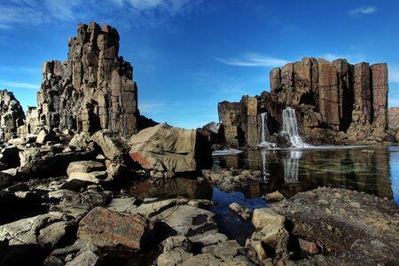 unusual coastal rock formations at kiama Stock Photo - 9852606