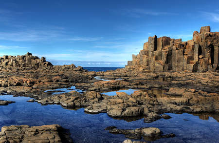 unusual coastal rock formations at kiama Stock Photo - 9852541