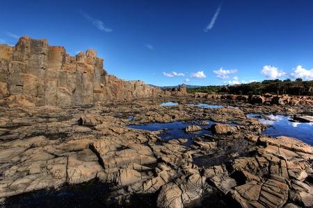 kiama: unusual coastal rock formations at kiama