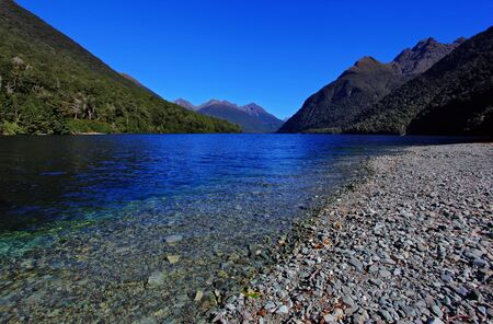 mirror lakes against blue sky photo