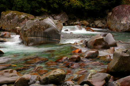 tropical waterfall in glacier country Stock Photo - 9852848