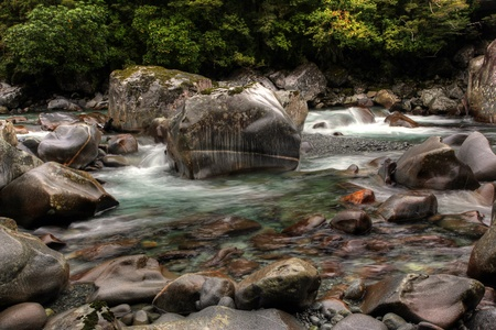 tropical waterfall in glacier country Stock Photo - 9852856