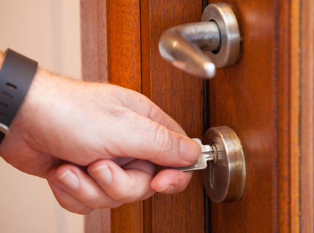 protect: Protect your house by locking the door. Use the key to secure your home