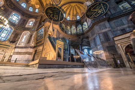 ISTANBUL, TURKEY- MARCH 11: The Hagia Sophia (The Church of the Holy Wisdom or Ayasofya in Turkish) is a spectacular Byzantine landmark