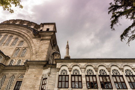 Exterior view of Nuru osmaniye Mosque that was commissioned from order of Sultan Mahmut I and completed by Sultan Osman III