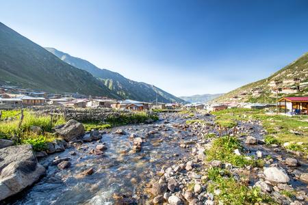 Village of Kavrun plateau or tableland in Kackar Mountains or simply Kackars in Camlihemsin, Rize, Turkey.