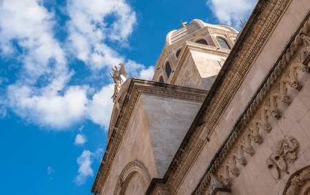 Exterior view of St James cathedral in Sibenik,Croatia.May 26,2017
