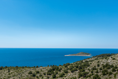 Aerial view of Kornati islands, National park in Croatia, Adriatic sea:SIBENIK,CROATIA,May 28,2017