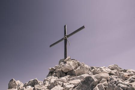Aerial view of Cross overlooking of Kornati islands in National park in Croatia, Adriatic sea