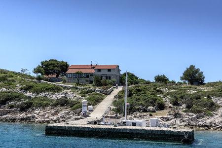 The bay for yacht in national park Kornati   in Sibenik,Croatia,28 May 2017