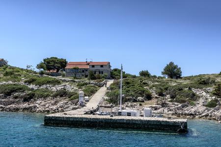 The bay for yacht in national park Kornati in Sibenik,Croatia