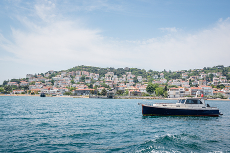 View of kinaliada island.The island is one of four islands named Princes Islands in the Sea of Marmara, near Istanbul, Turkey. Banco de Imagens