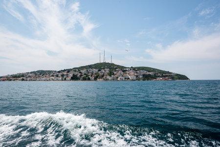 View of kinaliada island.The island is one of four islands named Princes Islands in the Sea of Marmara, near Istanbul, Turkey.20 May 2017 Editorial