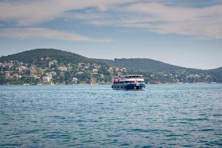 View of Heybeliada island.The island is one of four islands named Princes Islands in the Sea of Marmara, near Istanbul, Turkey.20 May 2017