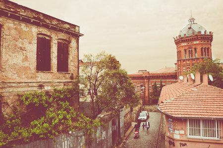 Phanar Greek Orthodox College known in Greek as Great School of Nation is oldest surviving and most prestigious Greek Orthodox school located in Balat.ISTANBUL,TURKEY - May 6,2017
