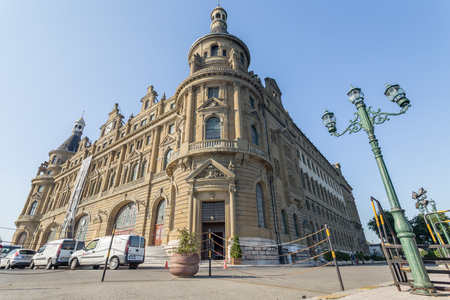 Exterior wide angle view of Haydarpasha railway station locates in Istanbul,Turkey.11 July 2015